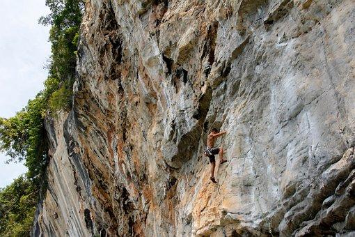 Mountaineer, Climb, Climber, Bergsport, Rock, Secure