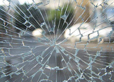 Glass, Window, Broken, Cracked, Shattered, Toughened