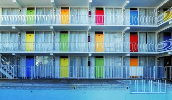 Wildwood, New Jersey, Motel, Rooms, Lodging, Colors