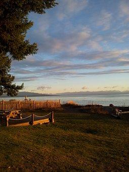 Ocean Front, Sea, Shore, Sunrise, Cottage, Beach, Water