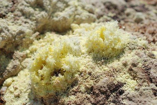 Sulfur, Cyrstal, Volcano, Crater, Sulfur Crystal