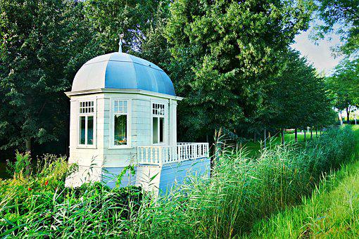 Pavilion, Gazebo, Garden House, Garden, Historic