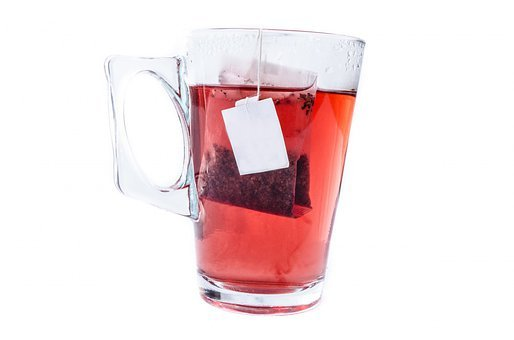 Tea, Cup, White, Teabag, Mug, Glass, Close-up, Isolated