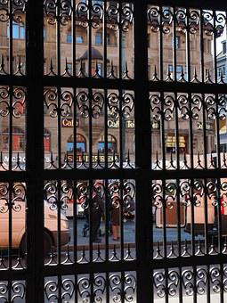Bars, Wrought Iron, Grid, Gate, Goal, Town Hall, Basel