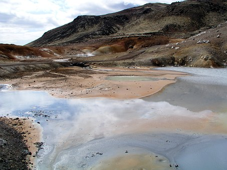 Iceland, Landscape, Water, Nature, Lava, Sulfur