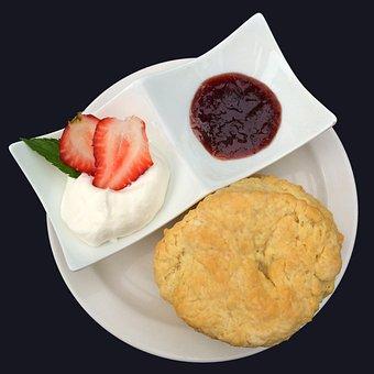 Scones, Jam, Clotted Cream, Afternoon Tea, Food