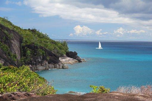 Sea, Boat, Seychelles, Water, Ship, Caribbean, Maldives