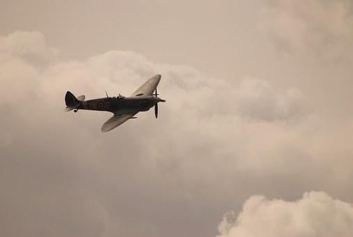 Spitfire, Airplane, Aircraft, Military, Historic, Ww2