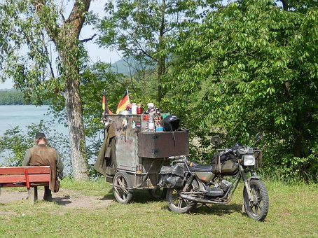 Motorcycle, Oldtimer, Trailers, Provisions, Stock