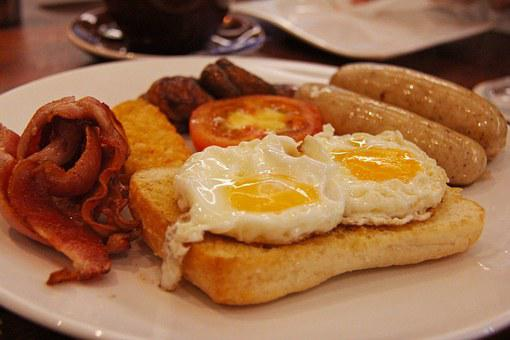 All Day, Yummy, English, Breakfast, Sausages, Mushrooms