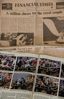Newspaper, Historic, Wedding, Royal, Diana, Charles