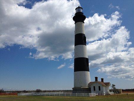 Lighthouse, Bodie Island, North Carolina, Nc