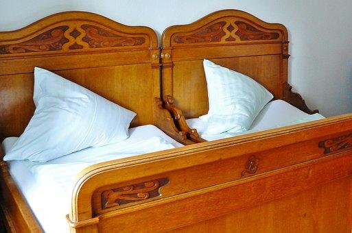 Bed, Wooden Bed, Bedroom, Sleep, Nostalgia, Room