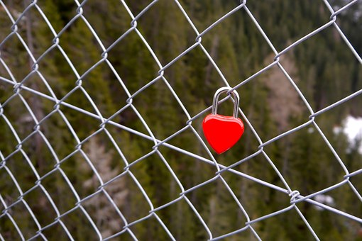 Love, Castle, Padlock, Love Locks, Love Castle, Red
