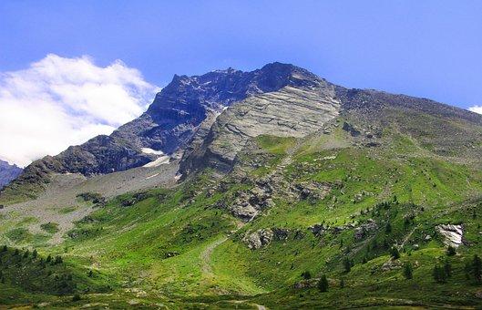 Mountains, Simplon Pass, Summer, Landscape, Hospitz