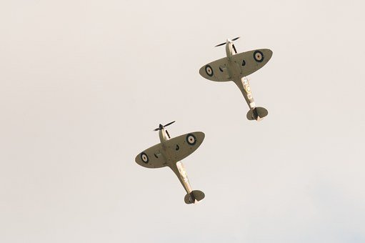 Spitfire, Spitfire Duo, Airshow, Air Display, Ww2