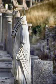 Ruins, Remains, Ephesus, Greek City, Asia Minor, Statue