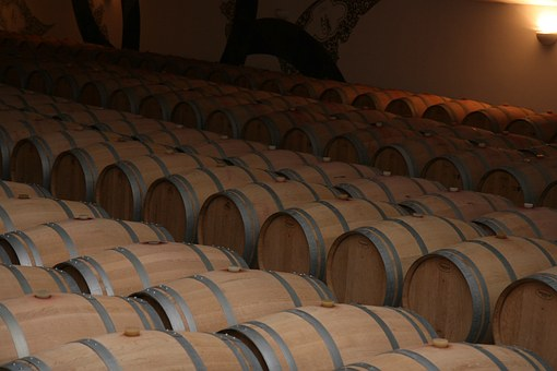 Storage, Barrels, Red, Wine, Bordeaux, France, Vine