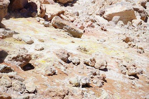 Sulfur, Volcano, Sulfur Vapor, Sulphur Field, Teide