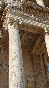 Column, Ephesus, Historic, Turkey, Ancient
