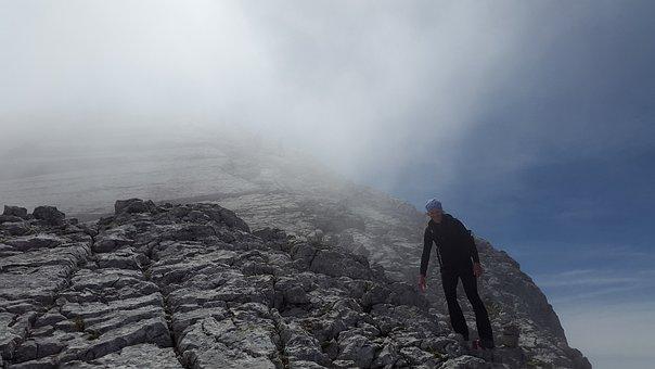 Watzmann, Mountaineering, Climb, Hiking, Wanderer, Rock