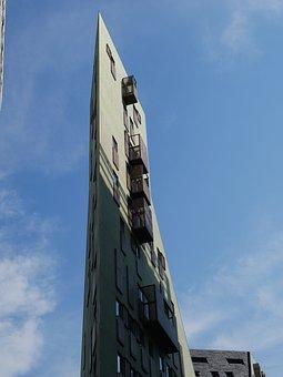 Architecture, Corner, Apartment, Corner House, Building
