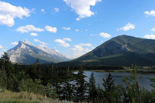 Mountain, Scene, Nature, Landscape, Banff, Travel, Sky