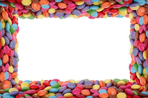 Background, Birthday, Border, Candy, Chocolate Buttons