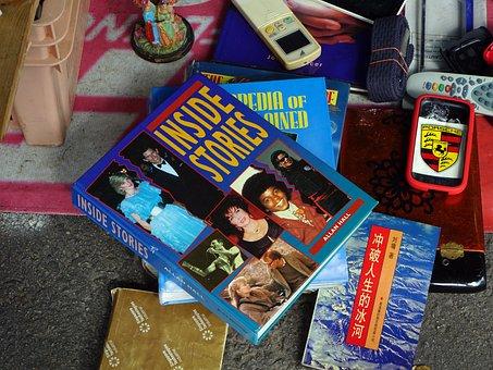 Books, Flea Market, Browse, Antiques, Junks, Vintage