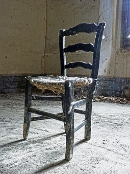 Chair, Rickety, Old, Abandoned, Broken Chair