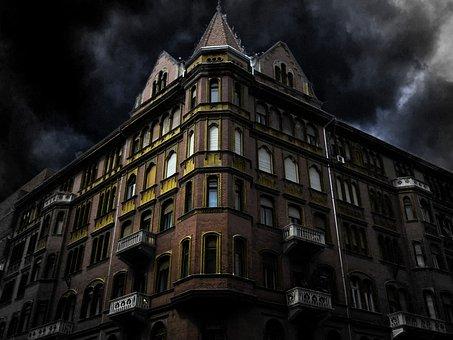 Haunted House Corner, Building, Fancy, Facade