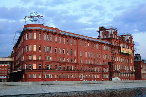 Building, Red Brick, Rounded Corners, Windows, Rows