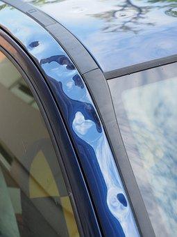 Hail Damage, Auto, Car Roof, Paint Damage, Beulen