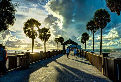 Clearwater Beach, Florida, Gulf Coast, Water, Shore
