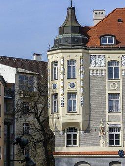 Corner Gazebo, Europe, Building, House, Facade