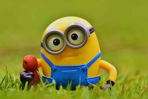 Minion, Funny, Meadow, Bears, Cute, Toys, Children