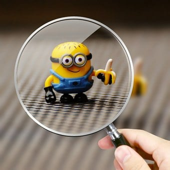 Minion, Funny, Magnifying Glass, Toys, Children, Figure