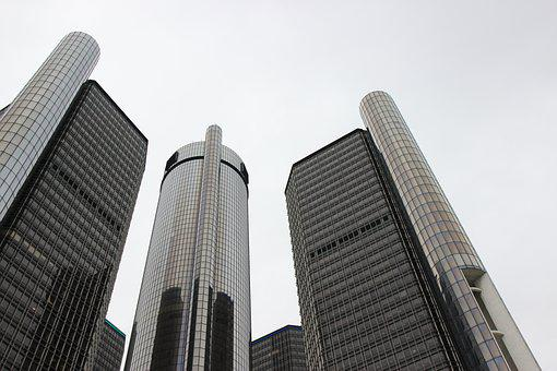 Renaissance Center, General Motors, Detroit, Michigan
