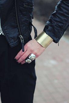 Wide, Bangle, Bracelet, Cuff, Jewellery, Jewelry, Hand