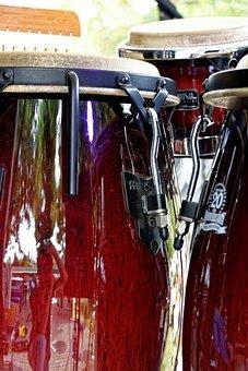 Bongos, Drums, Music, Instrument, Musical Instrument