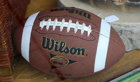 Football, Leather, Brown, Ball, American, Equipment