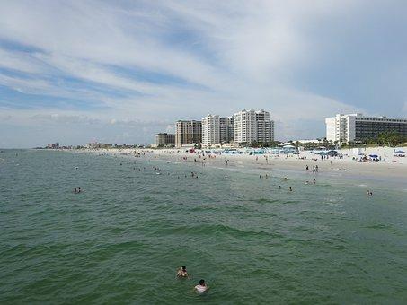 Beach, Clearwater, Mar, Ocean, Water