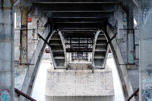 Bridge, Structure, Metal, Steel, Architecture