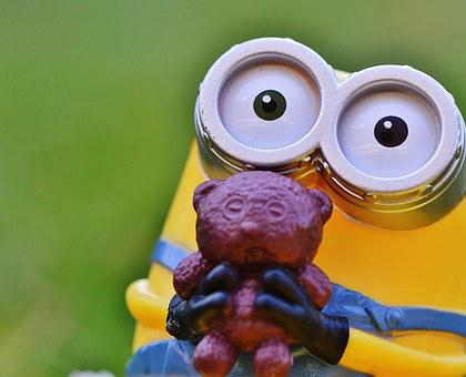 Figure, Funny, Minions, Toys, Children, Yellow