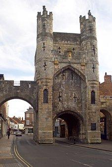 City Gate, Monk Bar, Gatehouse, City Wall, York