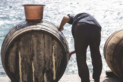 Sea, Old, Man, Barrel, Sun, Light, Basket, Croatia