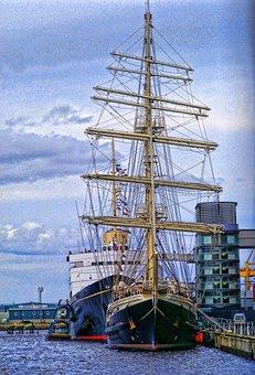 Sea, Ships, Royalty, Ocean, Dock, Port, Jetty