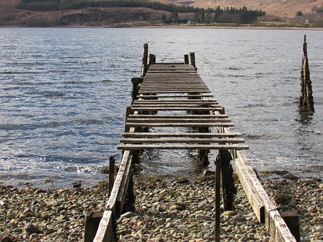 Old Jetty, Old Pier, Wooden Pier, Rickety Pier