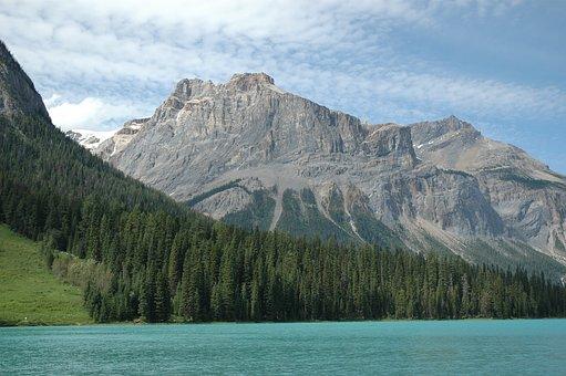 Emerald Lake, Rocky Mountains, Canada, Lake, Park