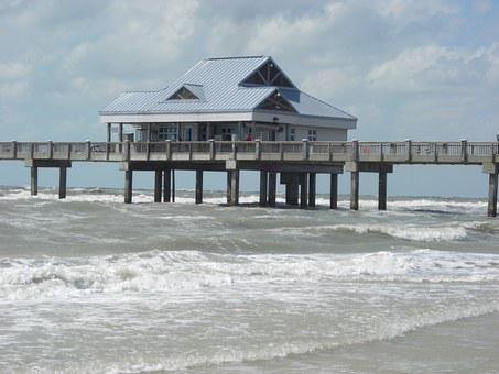 Sea Bridge, Florida, Clearwater Beach, Forward, Wave